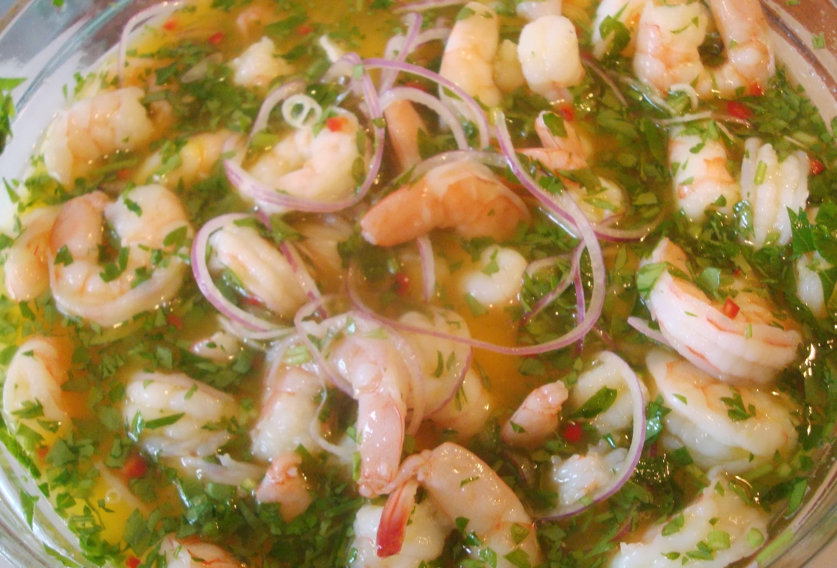 ceviche de camaron peruano receta