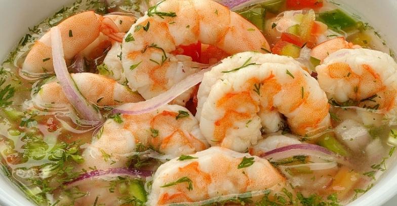 ceviche de camarones receta peruana