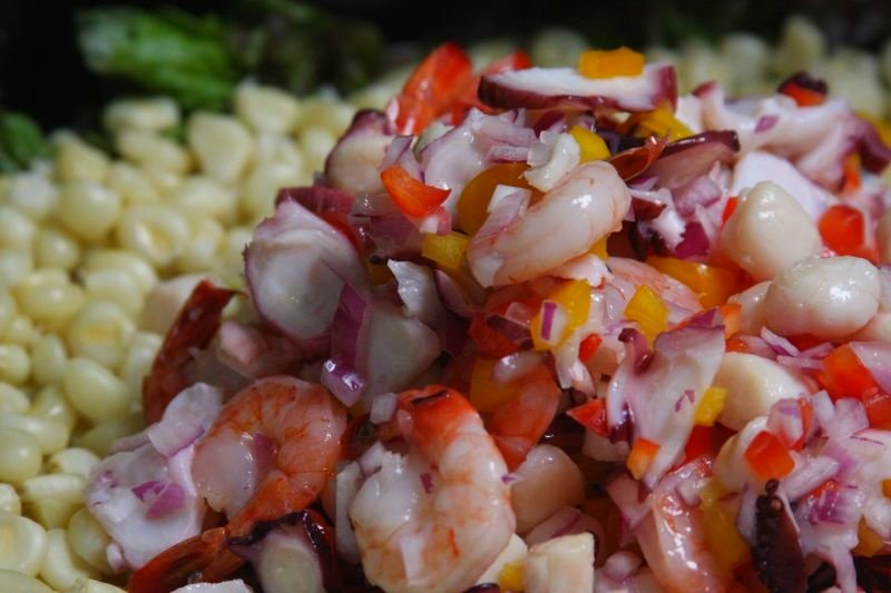 ceviche on  mariscos