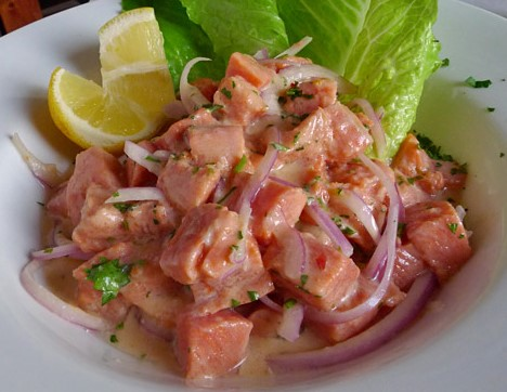 Salmon And Cilantro Ceviche Recipe — Dishmaps